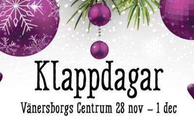 Klappdagar Vänersborgs Centrum 28/11 – 1/12